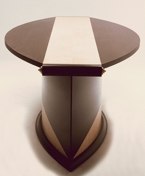 'Art Deco' style table with scroll ends