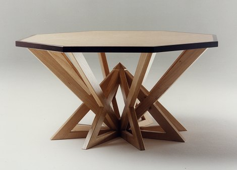 Reversible octagonal dining table
